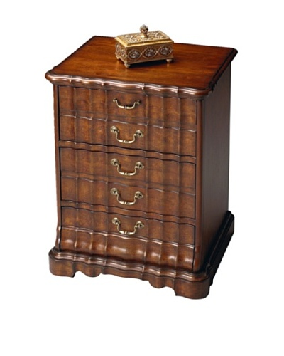 Butler Specialty Company CD/DVD Storage Chest, Plantation Cherry
