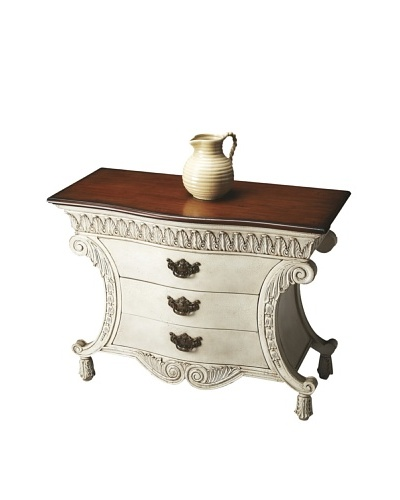 Butler Specialty Company Chest, Alabaster/Maple