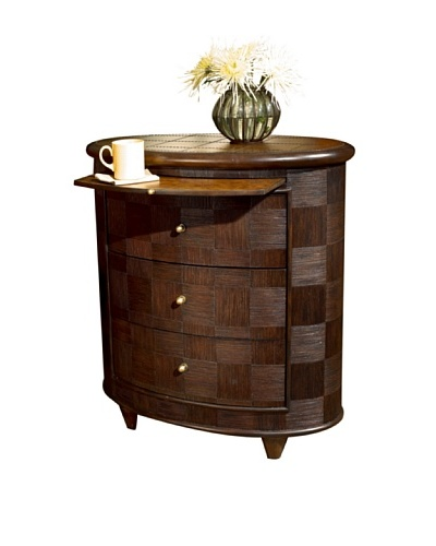 Butler Specialty Company Brown Espresso Oval Side Chest