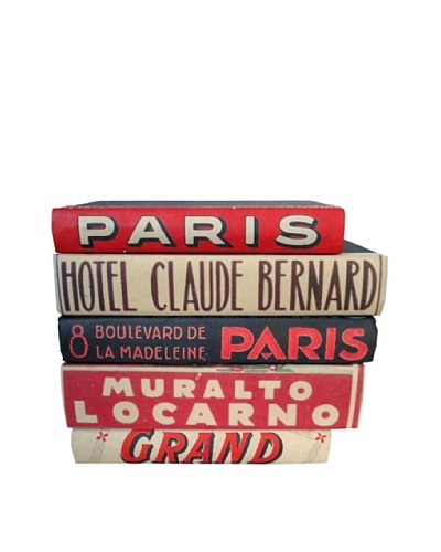 By Its Cover Hand-Rebound Set of 5 Hotel Decorative Books, II