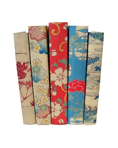 By Its Cover Hand-Rebound Set of 5 Floral Decorative Books, I