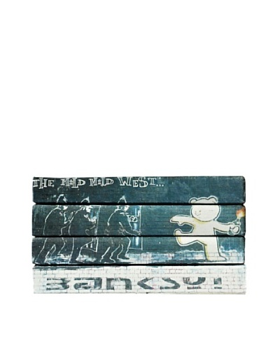 By Its Cover Decorative Reclaimed Books Graffiti Series IV, Set of 4