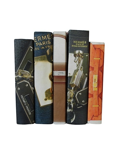 By Its Cover Decorative Reclaimed Books Designer Bag Series I, Set of 5