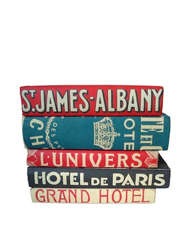 By Its Cover Hand-Rebound Set of 5 Hotel Decorative Books, I