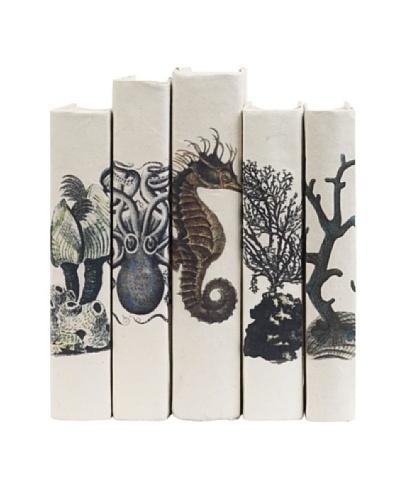 By Its Cover Hand-Rebound Set of 5 Coastal Decorative Books, I