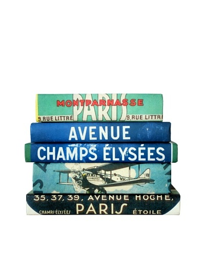 By Its Cover Decorative Reclaimed Books Travel Series IV, Set of 5