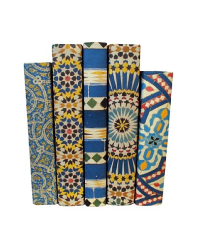By Its Cover Hand-Rebound Set of 5 Mosaic Decorative Books, I