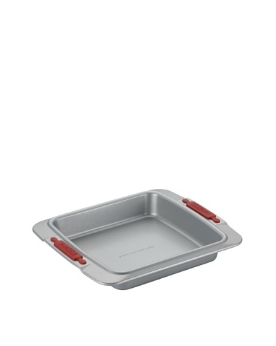 "Cake Boss 9"" Square Cake Pan with Silicone Grips"