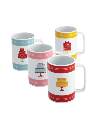 Cake Boss 4-Piece Retro Cakes Mug Set