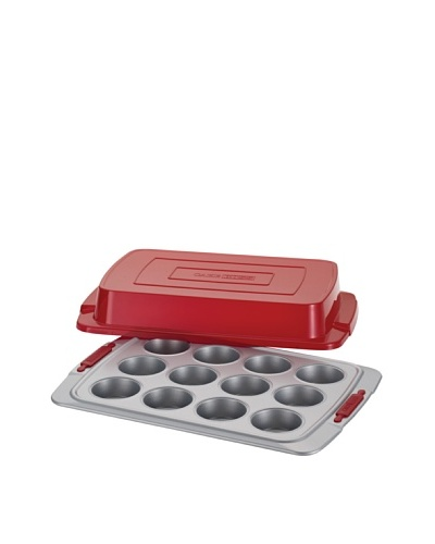 Cake Boss 12-Cup Covered Muffin & Cupcake Pan with Silicone Grips