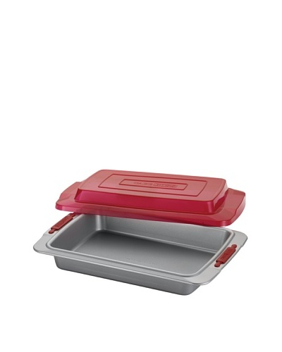 Cake Boss 9 x 13 Covered Cake Pan with Silicone Grips