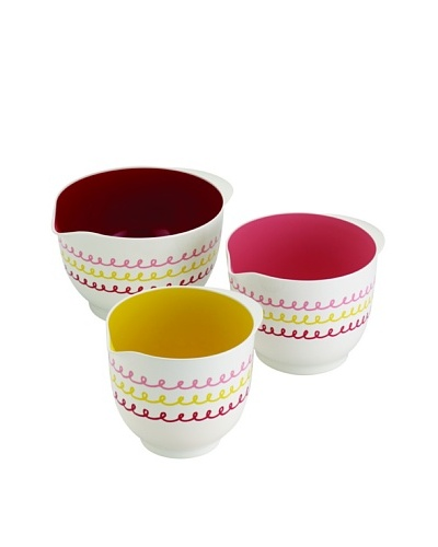 Cake Boss 3-Piece Icing Melamine Mixing Bowl Set