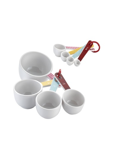Cake Boss 8-Piece Melamine Measuring Cups & Spoons Set