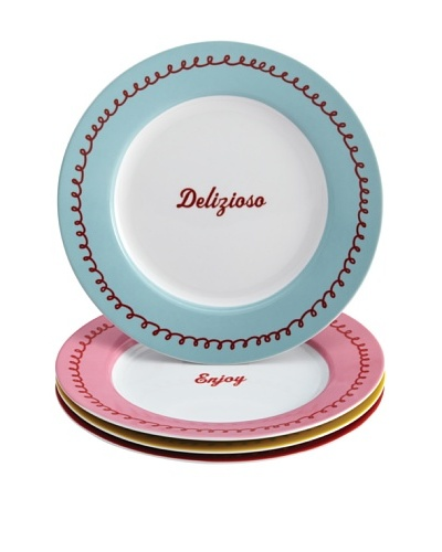 Cake Boss 4-Pack Icing Quotes Dessert Plate Set