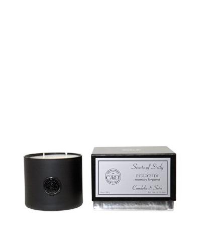 Cali Cosmetics Filicudi (Rosemary Bergamot) 18-Oz 2-Wick Candle, Black