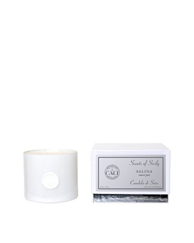 Cali Cosmetics Salina (Sweet Pea) 18-Oz 2-Wick Candle, White