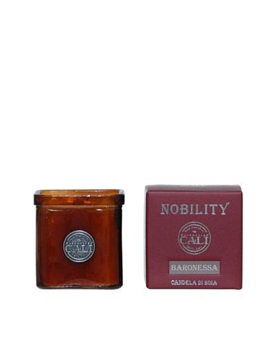 Cali Cosmetics 9-Oz. Baronessa Candle in Glass Vessel, Red