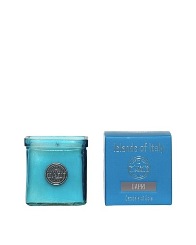 Cali Cosmetics 9-Oz. Capri Candle in Glass Vessel, Blue