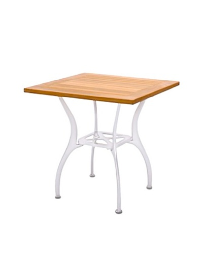 Caluco Square Dining Table, Silver/Natural