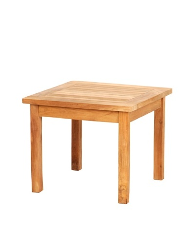 Caluco Square Teak End Table, Natural