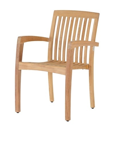 Caluco Stacking Arm Chair, Natural