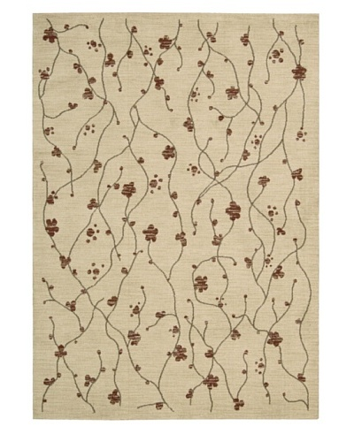 Calvin Klein Home Woven Textures Rectangle Rug [Beige]