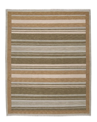 Calvin Klein Home Fielded Stripe Rug [Fern]