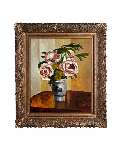 Camille Pissarro Bouquet of Pink Peonies