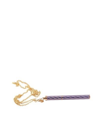 Campo Marzio Necklace with Ballpoint Pen, Gold/Iris