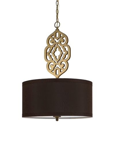 Candice Olson Lighting 4-Light Grill Pendant in Gold and Brown Shade
