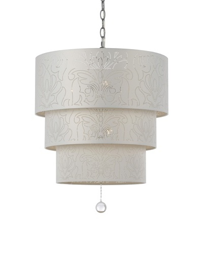 Candice Olson Lighting 5-Light Over Top Pendant in White