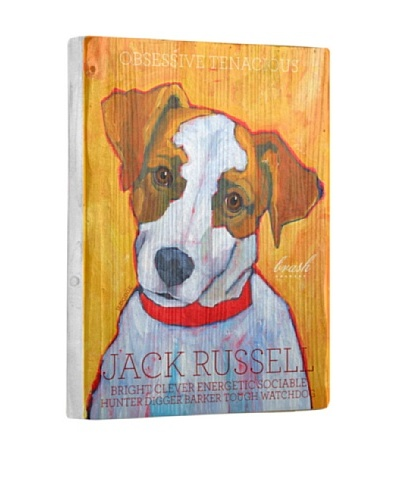 Ursula Dodge Jack Russell Terrier Reclaimed Wood Portrait