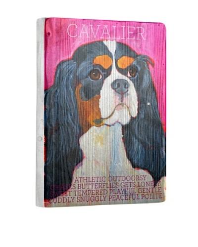 Ursula Dodge Cavalier Reclaimed Wood Portrait