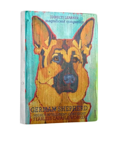 Ursula Dodge German Shepherd Reclaimed Wood Portrait