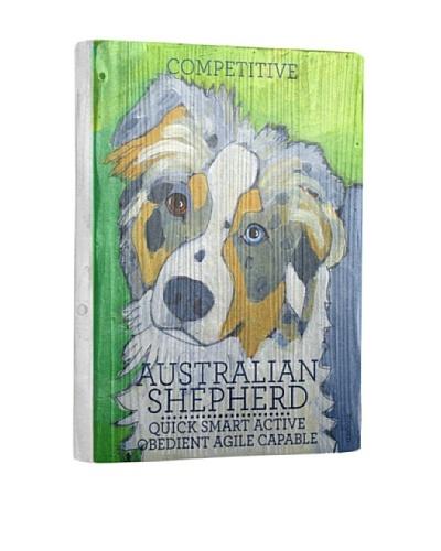 Ursula Dodge Australian Shepherd Reclaimed Wood Portrait