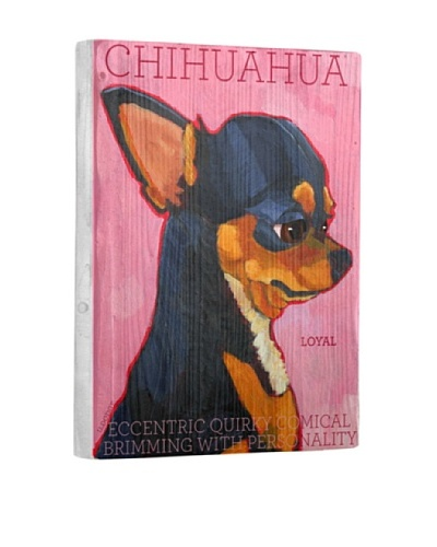 Ursula Dodge Chihuahua Reclaimed Wood Portrait