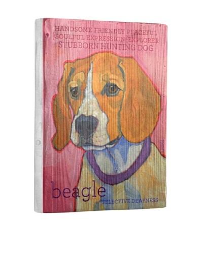Ursula Dodge Beagle Reclaimed Wood Portrait