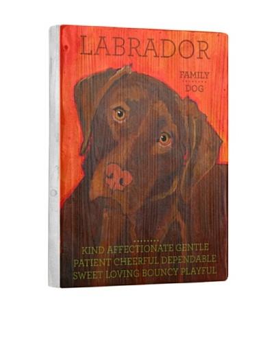 Ursula Dodge Chocolate Labrador Retriever Reclaimed Wood Portrait