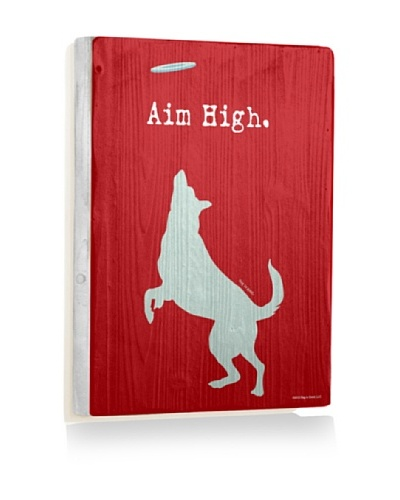 Ursula Dodge Aim High Reclaimed Wood Sign