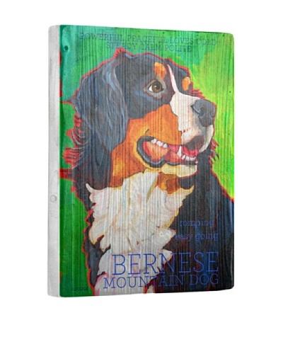 Ursula Dodge Bernese Mountain Dog Reclaimed Wood Portrait