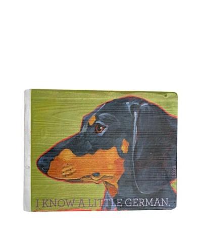 Ursula Dodge Dachshund Reclaimed Wood Portrait