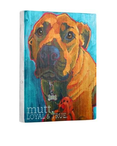Ursula Dodge Mutt Reclaimed Wood Portrait