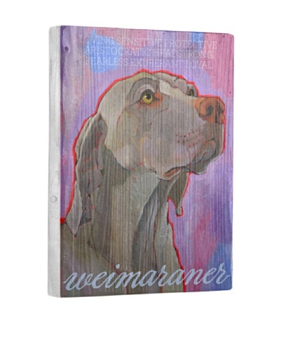 Ursula Dodge Weimaraner Reclaimed Wood Portrait