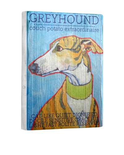 Ursula Dodge Greyhound Reclaimed Wood Portrait