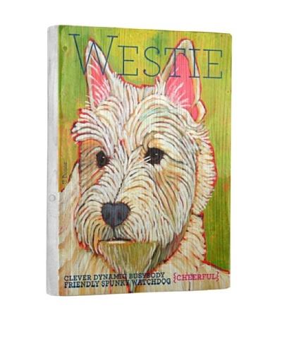 Ursula Dodge West Highland White Terrier Reclaimed Wood Portrait