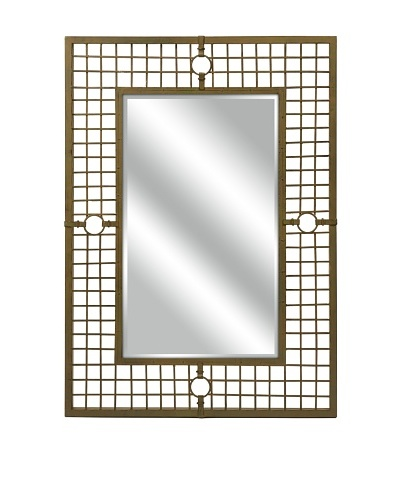 Carolyn Kinder Tabora Wall Mirror, Dark Brass