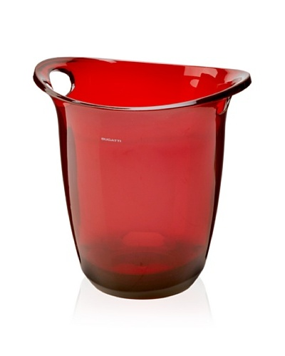 Casa Bugatti Glamour Serving Ice Bucket, Red