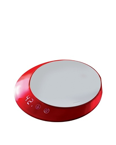 Casa Bugatti Glamour Kitchen Scale with Timer, Red