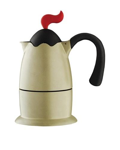 Casa Bugatti 6-Cup Volcano Coffee/Espresso Maker, Gold