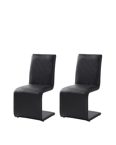 Casabianca Set of 2 Belle Chairs, Black